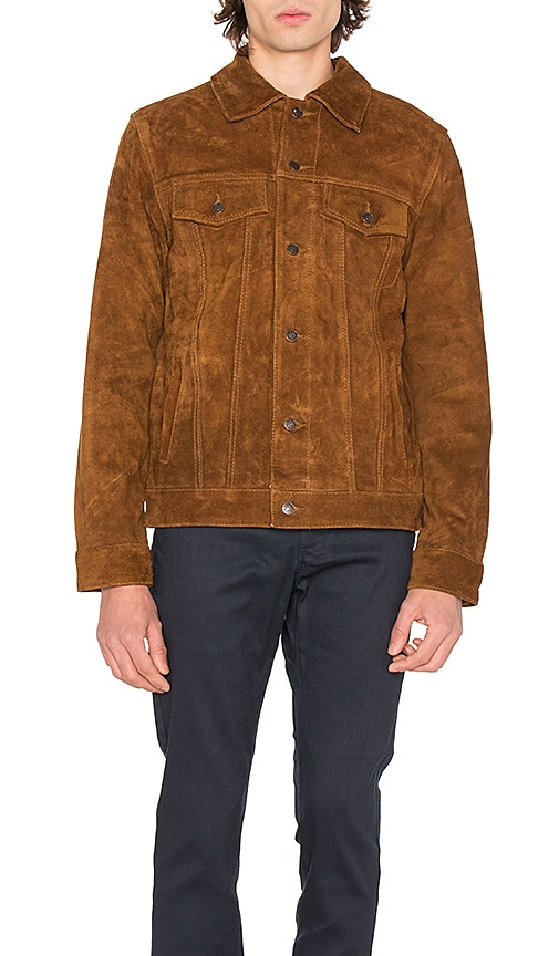 Deus Ex Machina Django Suede Jacket in Brown
