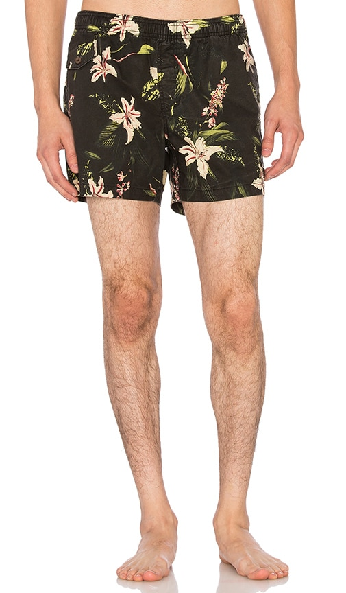 Deus Ex Machina Botanical Boardshort in Black