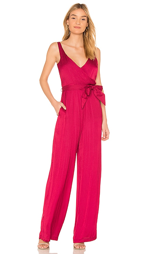 devlin Pixie Jumpsuit in Red