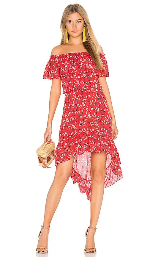 devlin Carrie Dress in Red