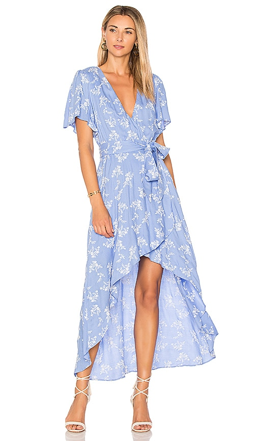 devlin Pax Wrap Dress in Baby Blue