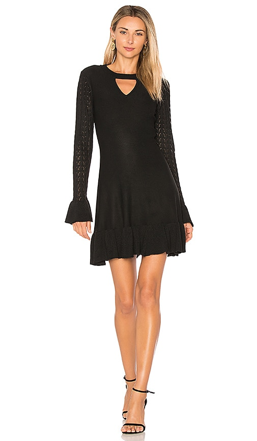 devlin Krista Knit Dress in Black