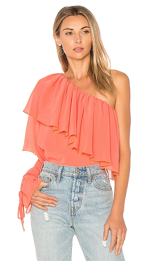 devlin Madora Blouse in Coral