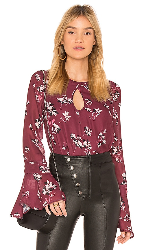 devlin Sonoma Blouse in Burgundy