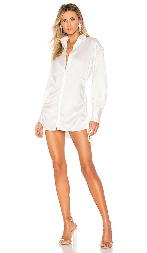 Ruched Shirt Dress