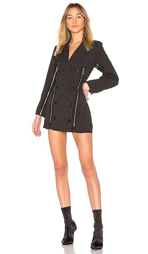 DANIELLE GUIZIO Xenia Zipper Dress in Black