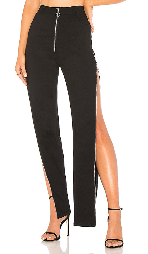 DANIELLE GUIZIO Maud Zipper Pant in Black