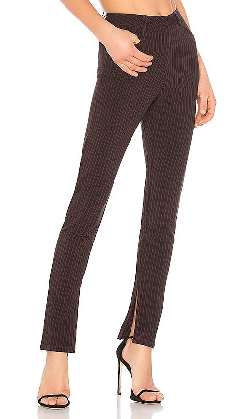 DANIELLE GUIZIO Classic Pinstripe Pant in Black