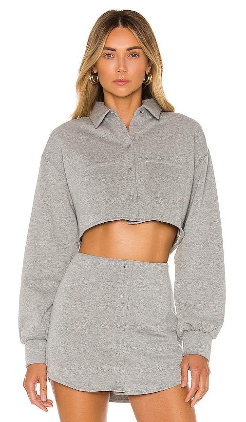 Fleece Button Up Blouse