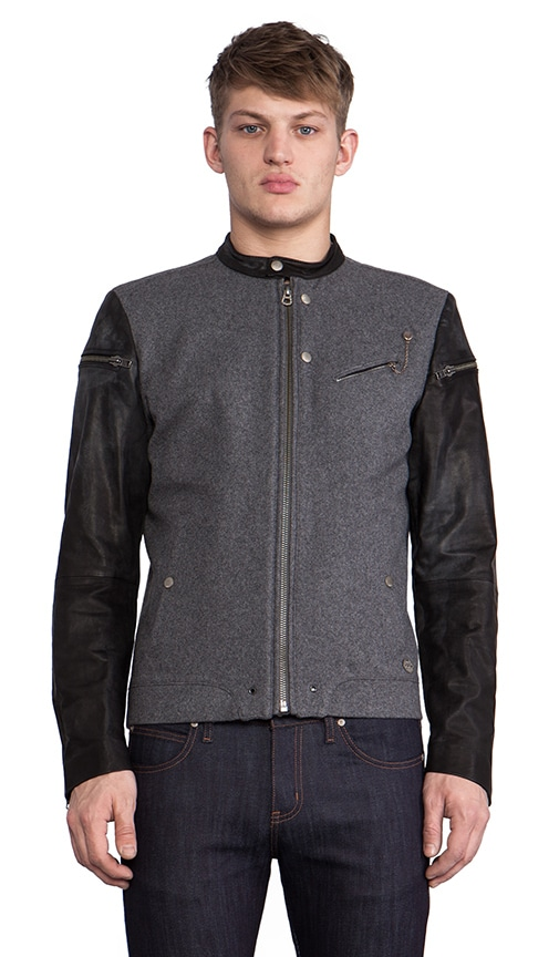 Baselt Moto Jacket w/Leather Sleeves