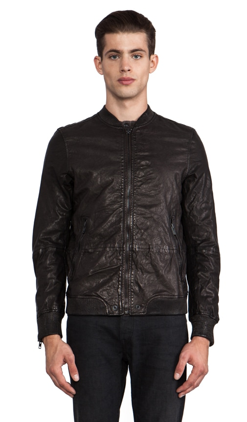 Ajuga Leather Bomber