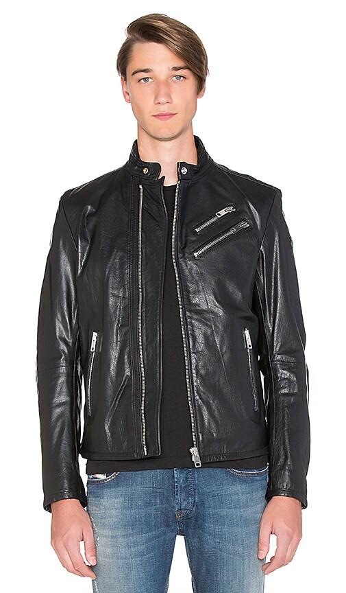 Diesel Oyton Leather Jacket in Black