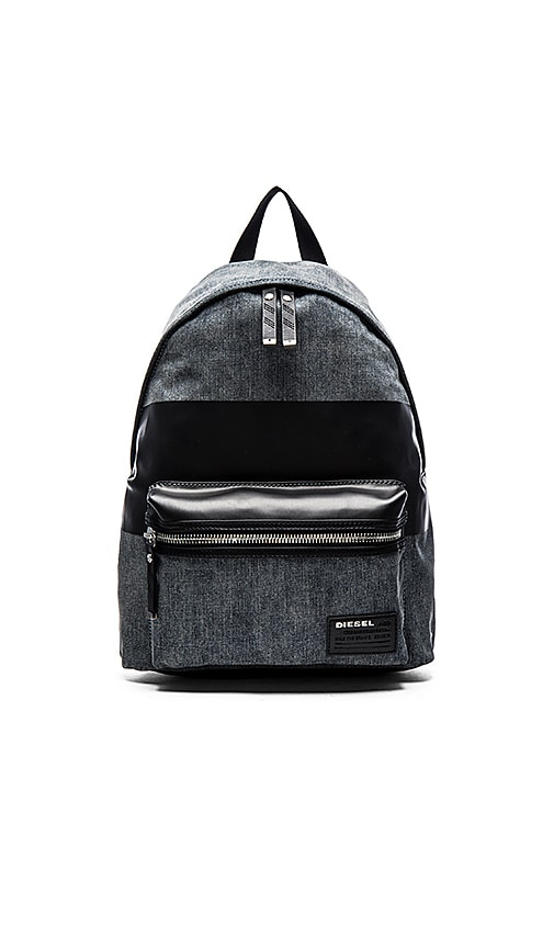 Diesel Blockin' Too Denim Backpack in Light Blue Black