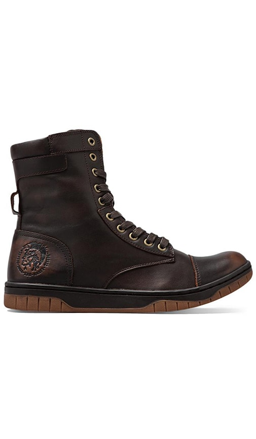 Diesel Tatradium Basket Butch Zip Sneaker in Brown