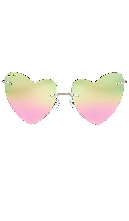9e798b0888 DIFF EYEWEAR Remy in Brushed Silver   Pastel Rainbow