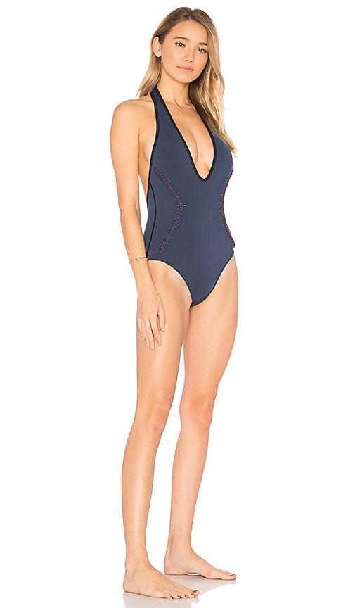 Dion Lee Braided One Piece in Navy