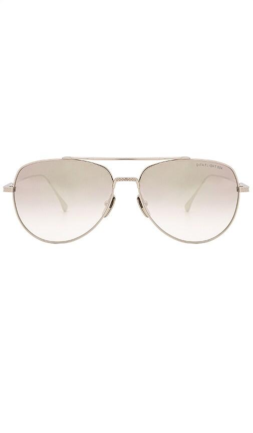 Dita Flight .004 Sunglasses in Metallic Silver