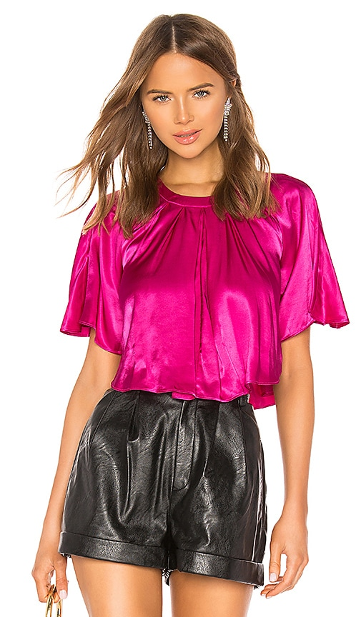 Cropped Cape Blouse