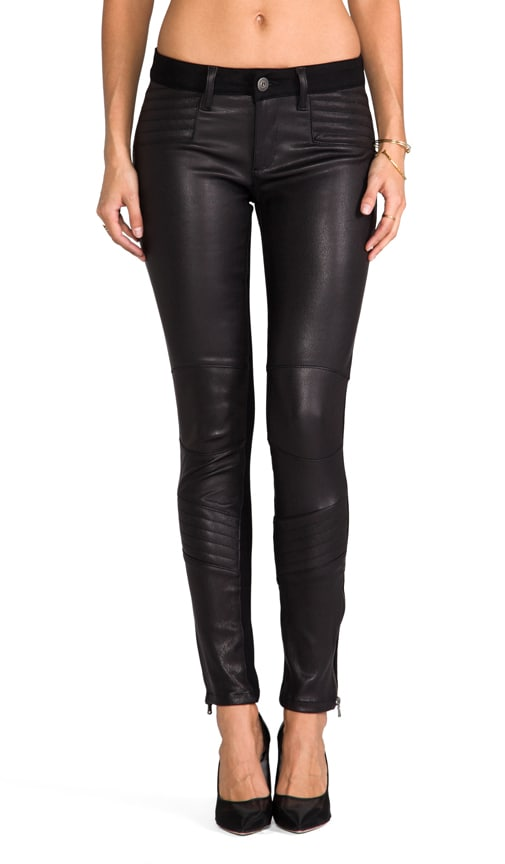 Emma Leather Moto Legging