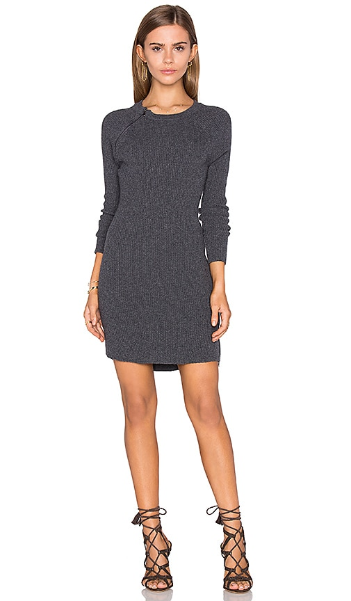 David Lerner Raglan Sweater Dress in Charcoal