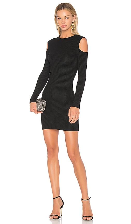 David Lerner Cold Shoulder Mini Dress in Black