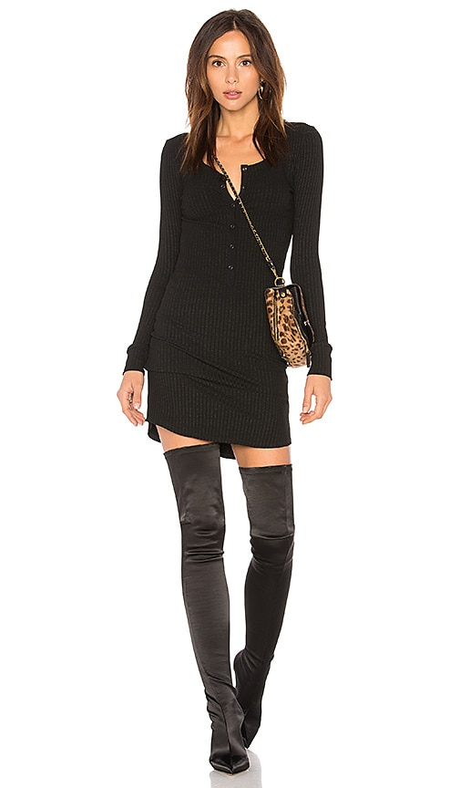 Long Sleeve Henley T Shirt Dress