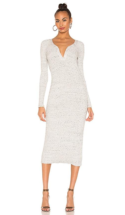 Button Henley Midi Dress