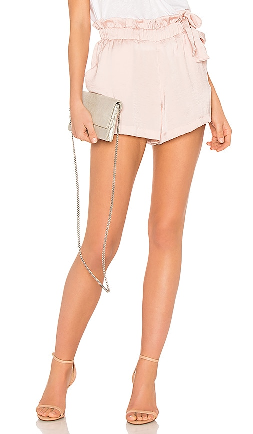 David Lerner Waist Tie Shorts in Blush