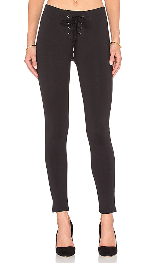 b205b433a208f David Lerner Lace Up Legging in Classic Black | REVOLVE
