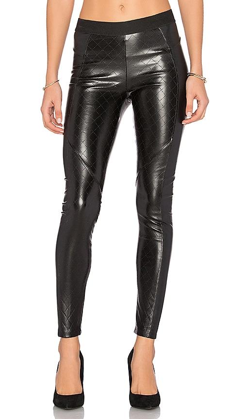 David Lerner Quilted Vegan Leather Legging in Black