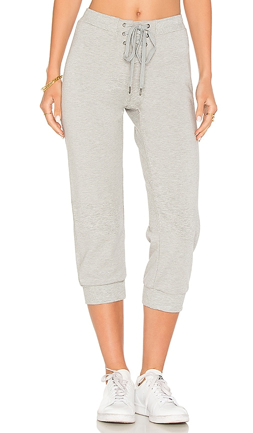 David Lerner Cropped Trackpant in Gray