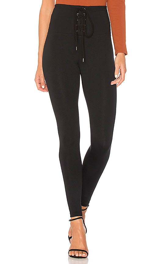 bd58602a4e884 David Lerner Corset Legging in Classic Black | REVOLVE