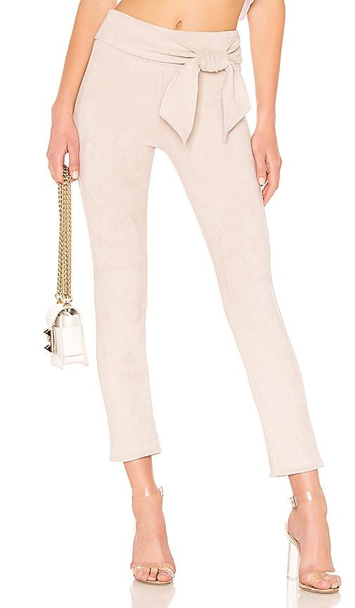 Waist Tie Straight Leg Skimmer Pant