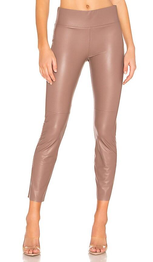 Gemma Midrise Straight Leg Vegan Leather Skimmer