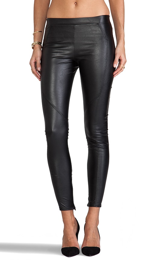 Basic Faux Leather Legging