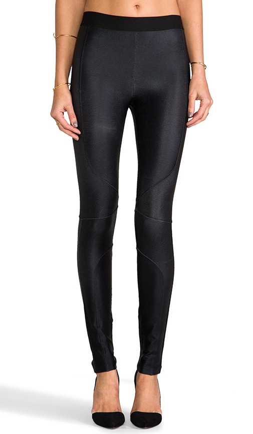 Metallic Seamed Legging