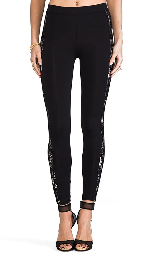 Contrast Lace Side Panel Pant