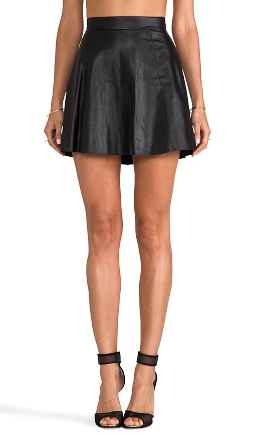 The Bowery Leather Skirt