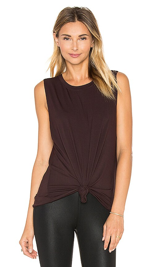 David Lerner Muscle Tank in Wine