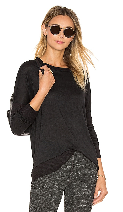 Ribbed Elbows Pullover
