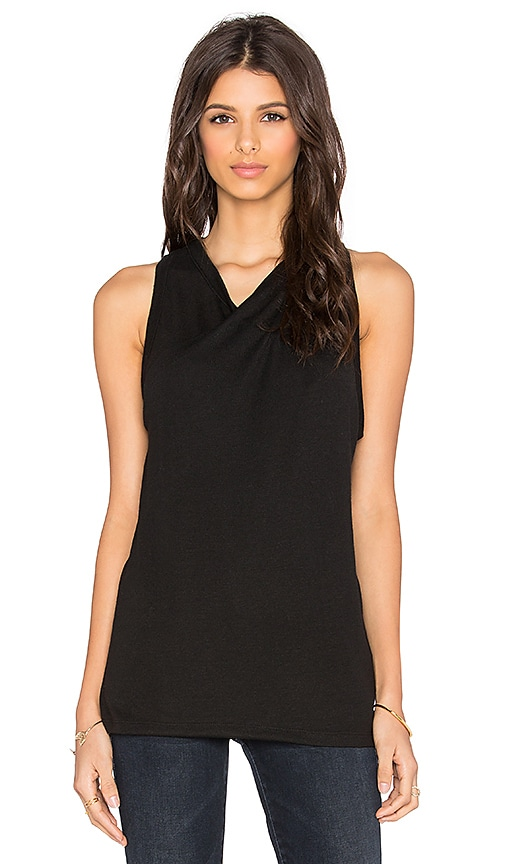 David Lerner Twisted Jersey Tunic in Classic Black