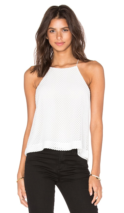 David Lerner Lace Tank in Soft White