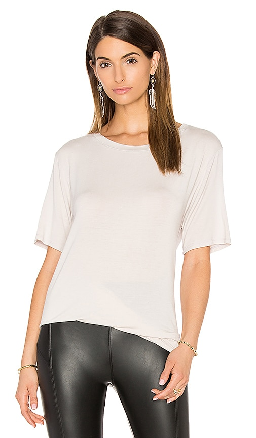 David Lerner Knotted Tee in Gray