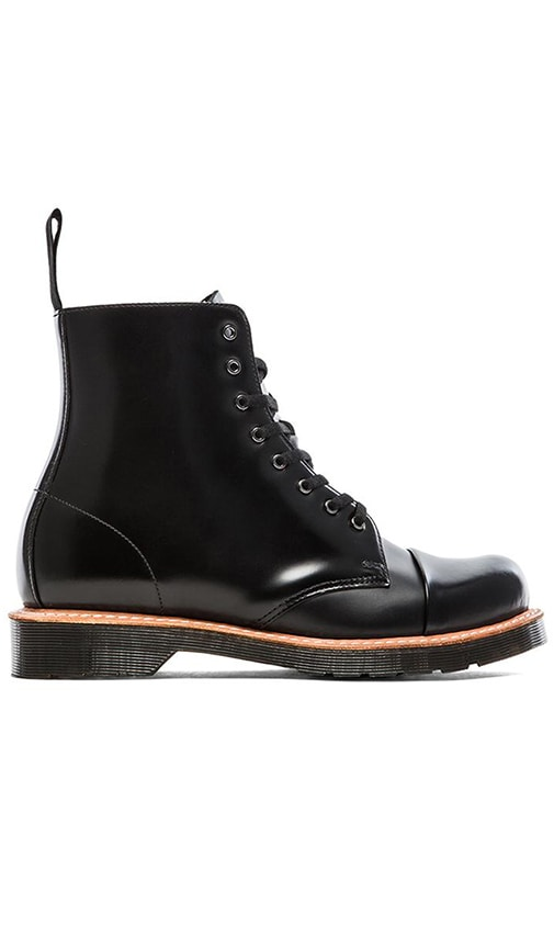 Dr. Martens Charlton 8 Eye Toe Cap Boot in Black