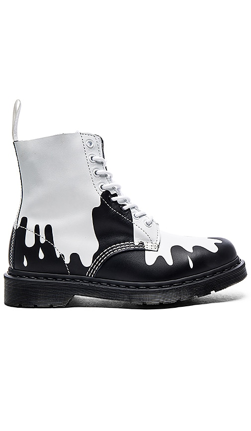 Dr. Martens Pascal 8 Eye Boot in White & Black