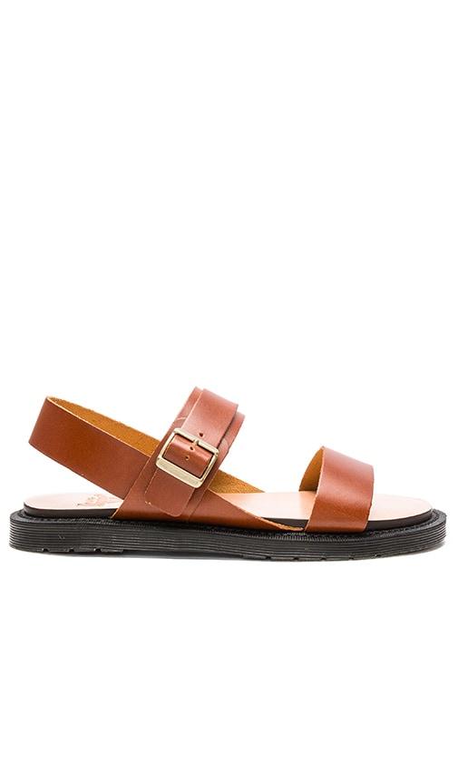 Dr. Martens Kennet 3 Strap Sandal in Cognac