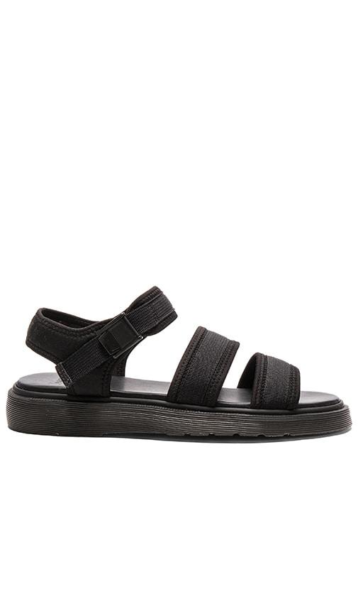 Dr. Martens Effra Tech 2 Strap Sandal in Black