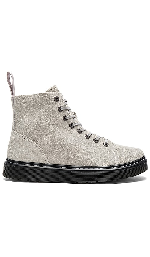 Dr. Martens Talib 8 Eye Boot in Gray