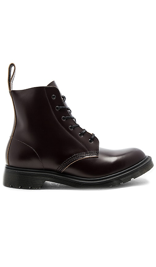 Dr. Martens Made in England Arthur 6 Eye Boot in Wine