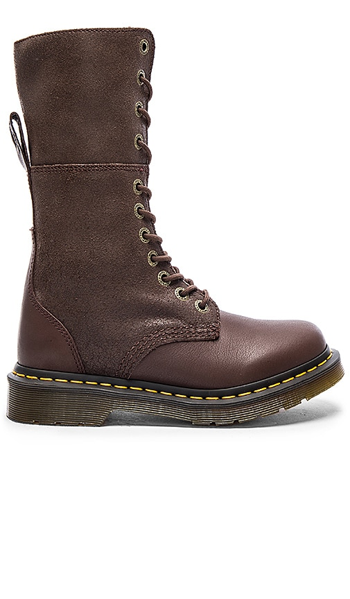 Dr. Martens Hazil Tall Slouch Boot in Dark Brown